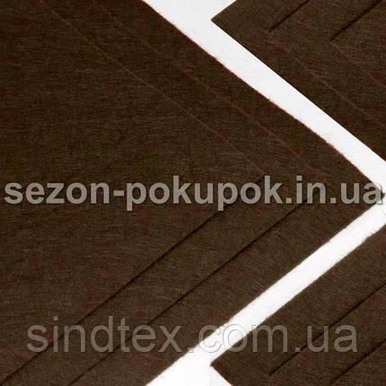 Фетр жесткий 1мм 20 х 25 см  Цена за 1 лист. Цвет - Коричневый (сп7нг-0134), фото 2