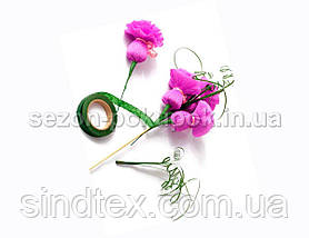 (12 бобин) Лента флористическая, тейп-лента 30 метров. Цвет - Розовый (сп7нг-3210), фото 2