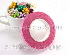 (12 бобин) Лента флористическая, тейп-лента 30 метров. Цвет - Розовый (сп7нг-3210), фото 3