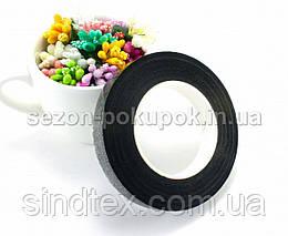 (12 бобин) Лента флористическая, тейп-лента 30 метров. Цвет - Чёрный (сп7нг-3213), фото 2