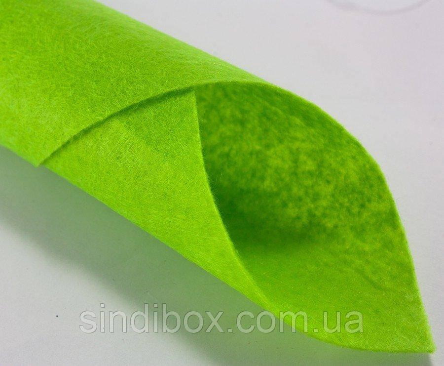 Фетр для хобби жесткий 1мм 20 х 25 см  Цена за 1 лист. Цвет - салатовый (сп7нг-0135)