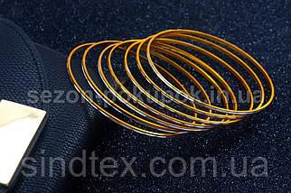 """(50шт,7цветов) Тонкие браслеты """"Неделька"""" Ø7см (ширина одного браслета 2мм)  Цвет - Микс (сп7нг-3037), фото 3"""