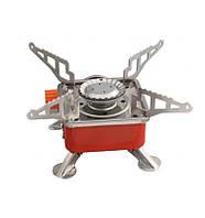 Портативная газовая горелка KOVAR К-202 с пьезоподжигом Красная (300538)