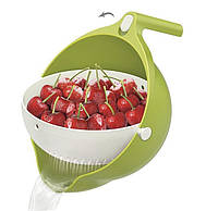 Миска-дуршлаг для ягод MESH STRAINER 2в1 Green (300672GR)
