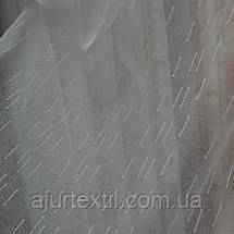 "Тюль лен ""Тайна"" бело молочная, фото 2"