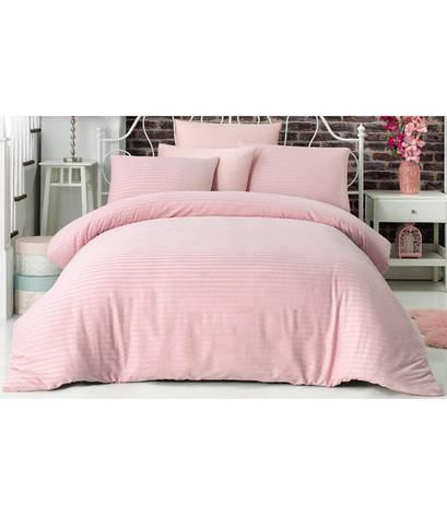 Комплект постельного белья La Rita Basic Евро сатин страйп розовый арт.ts-02137, фото 2
