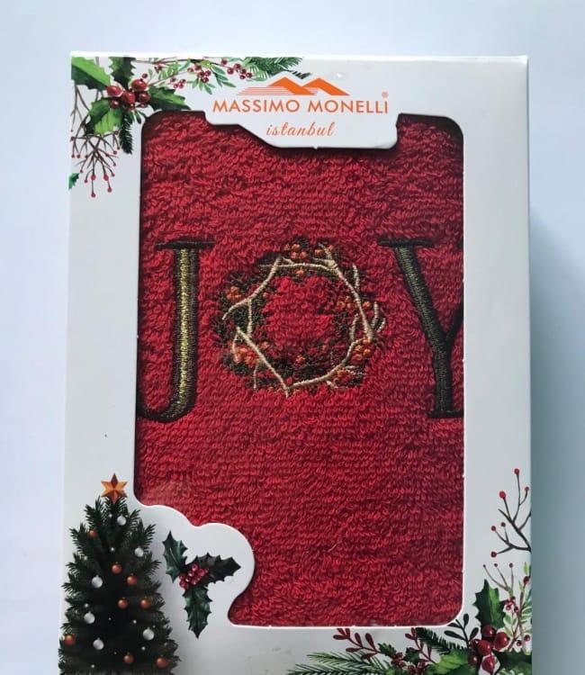 Рушник Massimo Monelli Joy 30*50 см махровий в коробці новорічне арт.ts-01707
