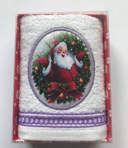 Рушник Massimo Monelli Санта 40*60 см махровий в коробці новорічне арт.ts-01744, фото 2