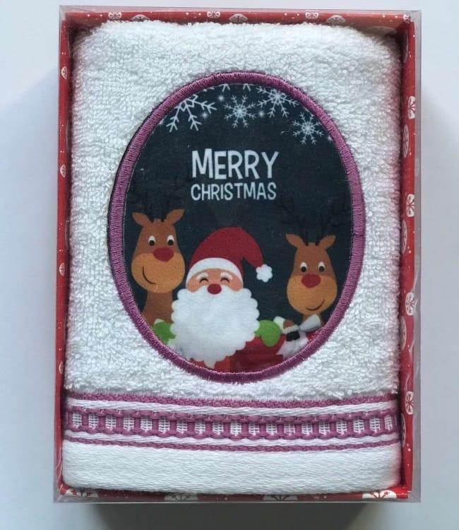Полотенце Massimo Monelli Санта 40*60 см махровое в коробке новогоднее арт.ts-01724