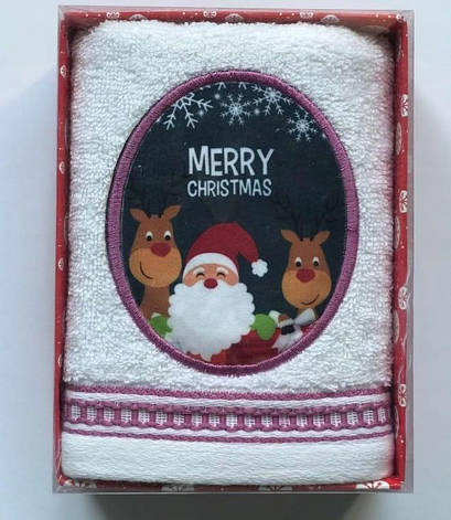 Полотенце Massimo Monelli Санта 40*60 см махровое в коробке новогоднее арт.ts-01724, фото 2