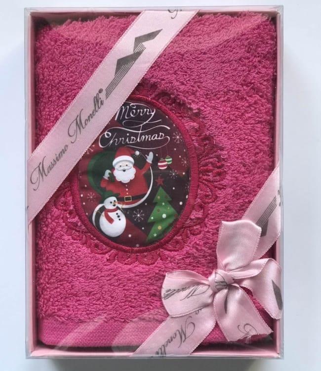 Рушник Massimo Monelli Санта клаус і сніговик 30*50 см махровий в коробці новорічне арт.ts-01725