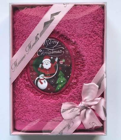 Рушник Massimo Monelli Санта клаус і сніговик 30*50 см махровий в коробці новорічне арт.ts-01725, фото 2