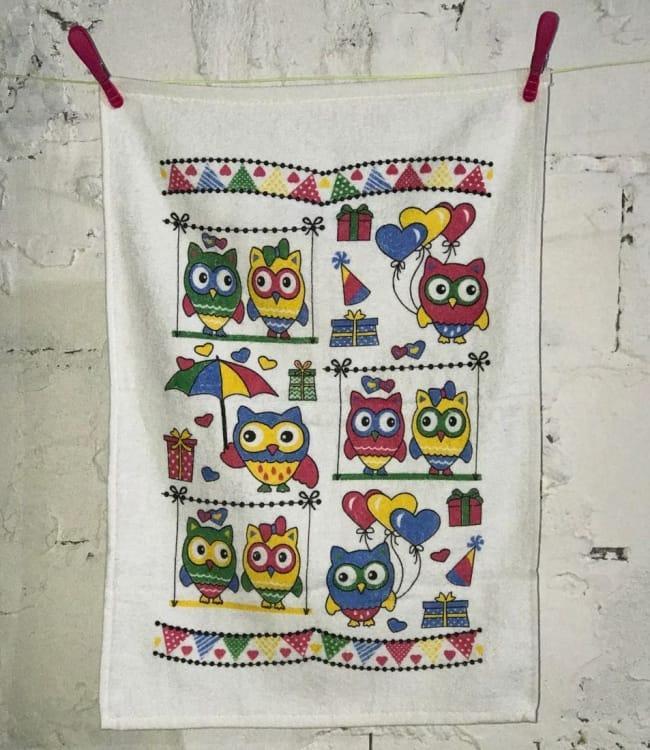 Рушник для кухні Melih Happy Owls 40*60 см бавовняне арт.ts-01366