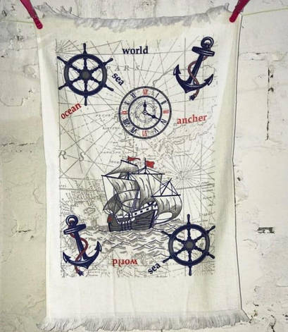 Рушник для кухні Melih Sea World 40*60 см бавовняне арт.ts-01380, фото 2