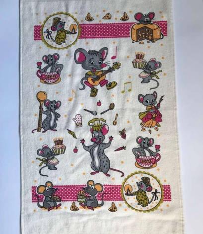 Рушник для кухні Melih Мишка 40*60 см бавовняне гірчичне арт.ts-01713, фото 2