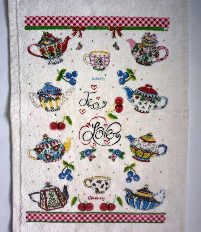 Полотенце для кухни Melih Tea Love 30*50 см хлопковое арт.ts-01617