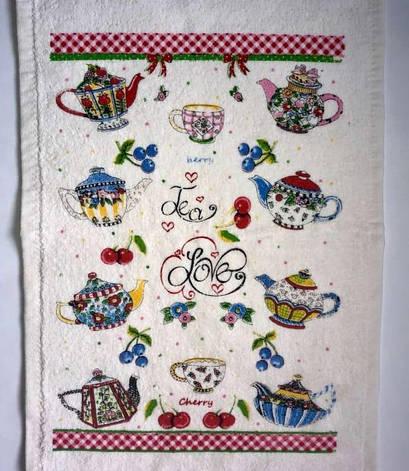 Полотенце для кухни Melih Tea Love 30*50 см хлопковое арт.ts-01617, фото 2