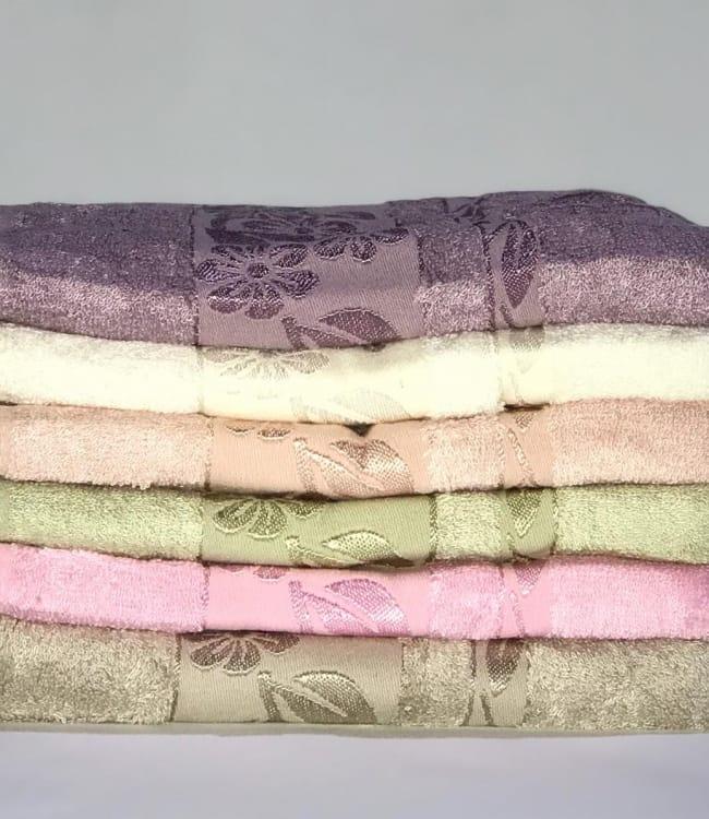 Набір рушників для особи Miss Cotton Bamboo Flowers 50*90 см бамбук банні 6шт арт.ts-01486