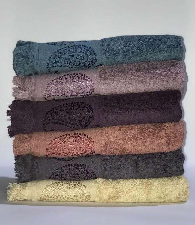 Набор полотенец для лица Miss Cotton Buta 50*90 см махровые жаккард банные 6шт арт.ts-01530