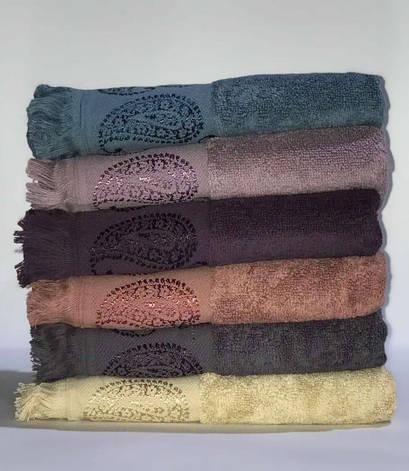 Набор полотенец для лица Miss Cotton Buta 70*140 см махровые жаккард банные 6шт арт.ts-6001098, фото 2