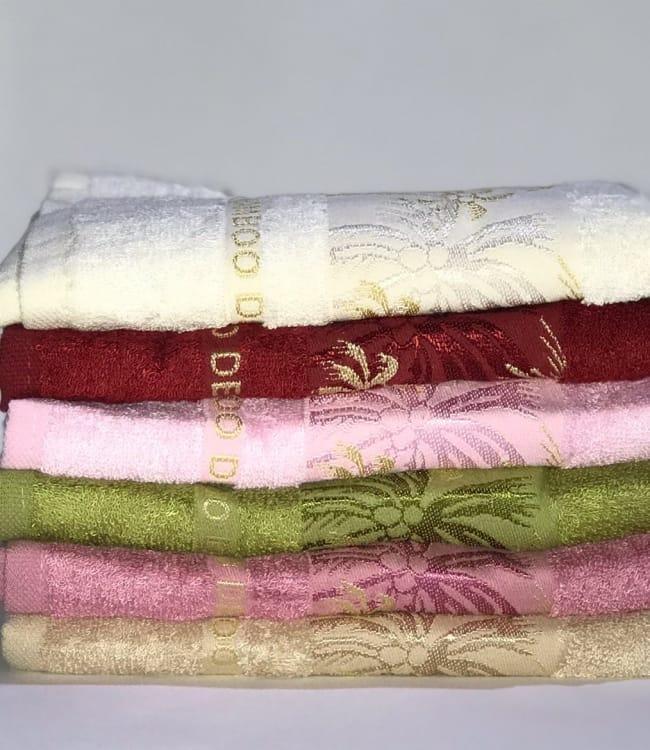 Набір рушників для особи Miss Cotton Bamboo Gold 70*140 см бамбук банні 6шт арт.ts-01491