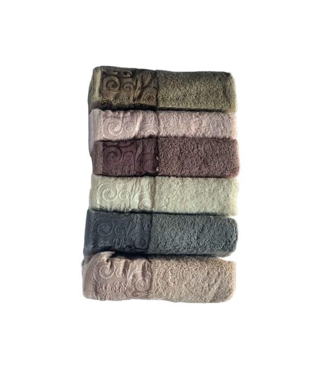 Набір рушників для особи Miss Cotton Hazal 50*90 см махрові банні 6шт арт.ts-6001472