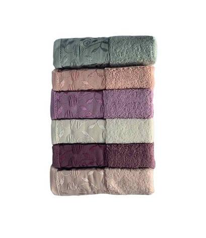 Набор полотенец для лица Miss Cotton For You 70*140 см махровые банные 6шт арт.ts-6001237, фото 2