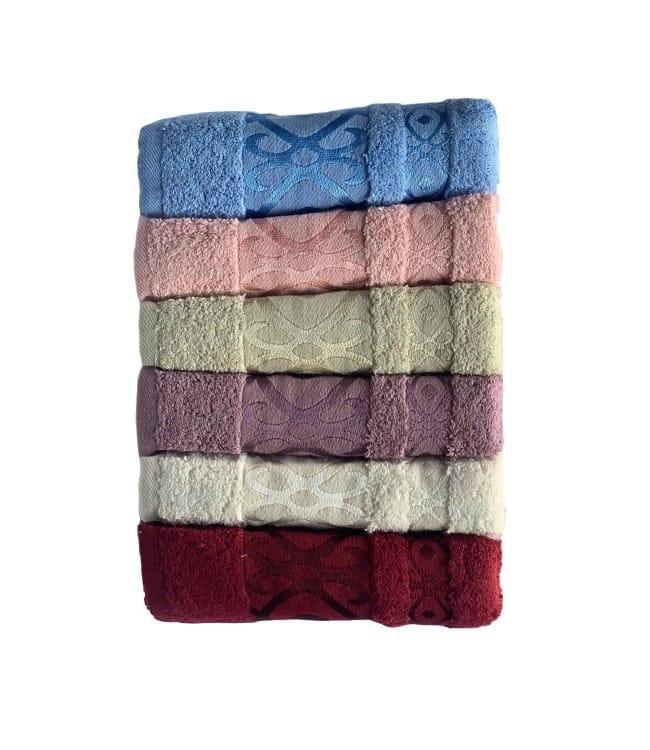 Набор полотенец для лица Miss Cotton Gometri 70*140 см махровые банные 6шт арт.ts-6001305