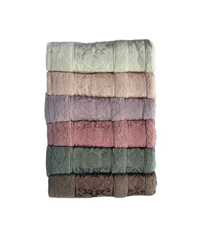 Набор полотенец для лица Miss Cotton Pirizma 70*140 см махровые банные 6шт арт.ts-6001307