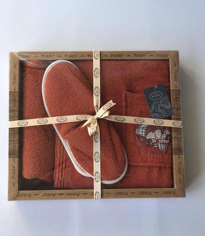 Набір для сауни Purry Діжка махровий жіночий 3 предмета кораловий арт.ts-01834, фото 2
