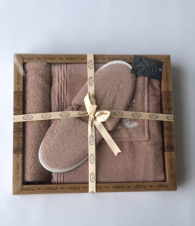 Набір для сауни Purry Діжка махровий жіночий 3 предмета бузковий арт.ts-6001463