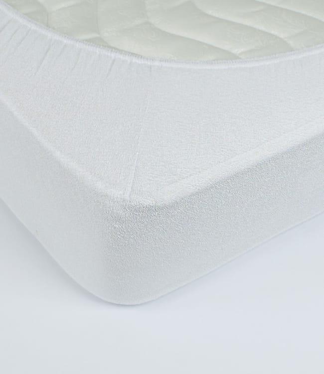Простынь Rosella Basic Light 160*200*25см махровая на резинке белая арт.ts-00017