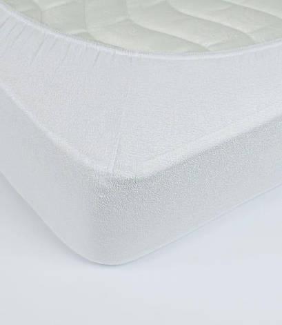 Простынь Rosella Basic Light 160*200*25см махровая на резинке белая арт.ts-00017, фото 2