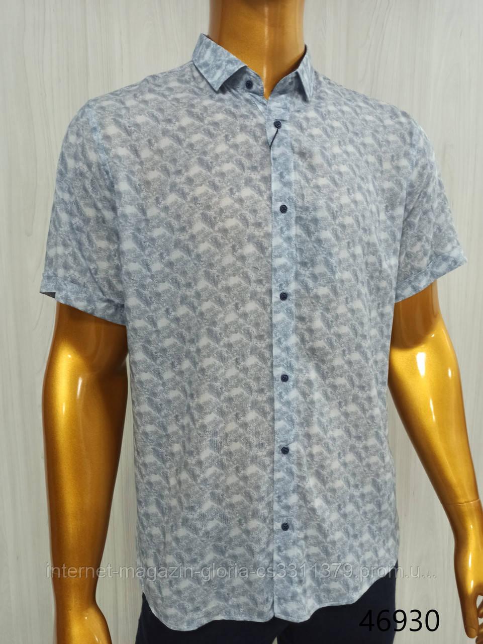 Мужская рубашка FLP. mod.46930-голубая. Размеры: M,L,XL,XXL.