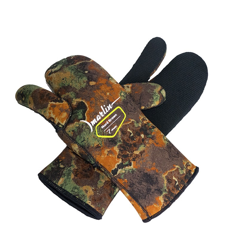 Перчатки трехпалые Marlin Nord Brown 7 мм (M)