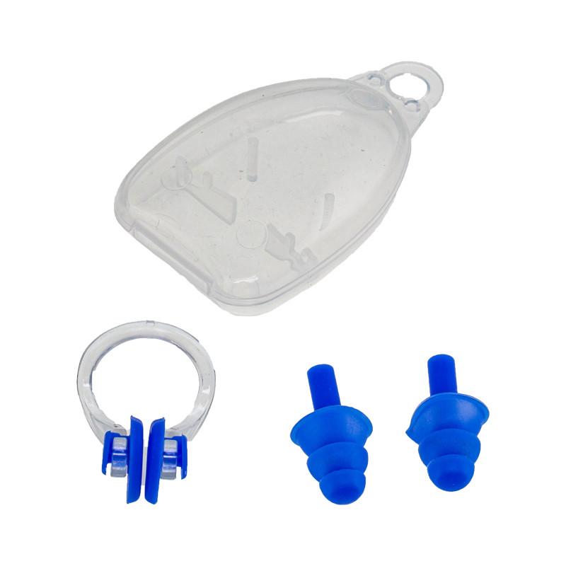 Комплект беруши + зажим для носа Marlin Swim Blue
