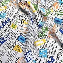 Ткань штапель принт газета, фото 3