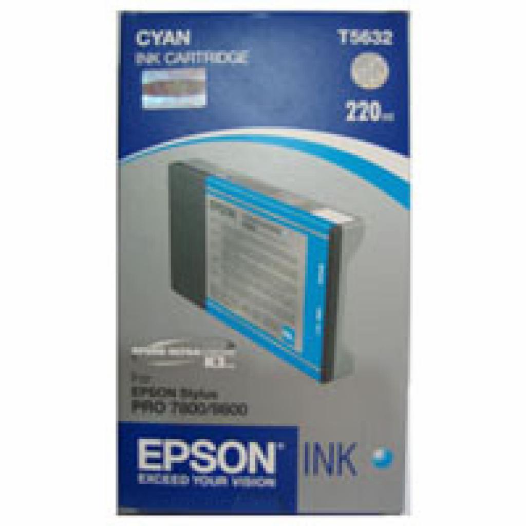 Картридж EPSON St Pro 7800/7880/9800 cyan (C13T603200)