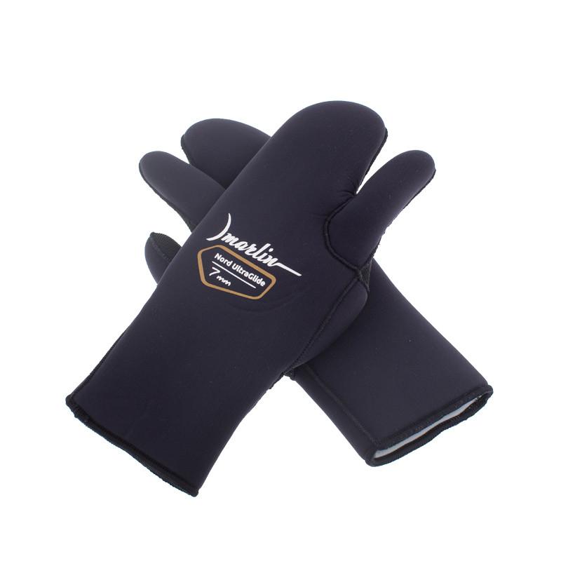 Перчатки трехпалые Marlin Nord Ultraglide Black 7 мм (XXXL)