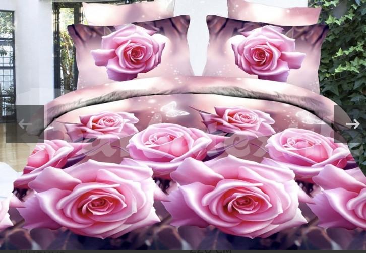 """Комплект семейный постельного белья ТМ """"Ловец снов"""", Розовые розы"""