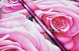 """Комплект постельного белья из ранфорса ТМ """"Ловец снов"""", Розовые розы, фото 3"""