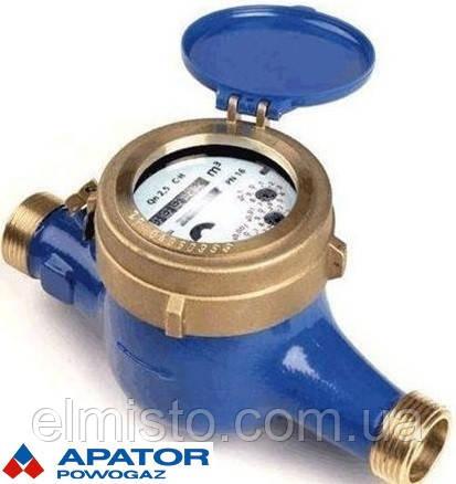 """Водолічильник на холодну воду Apator PoWoGaz WM-6,3 NKP Ду 25 мокроход багатоструменевий (клас точності """"С"""")"""