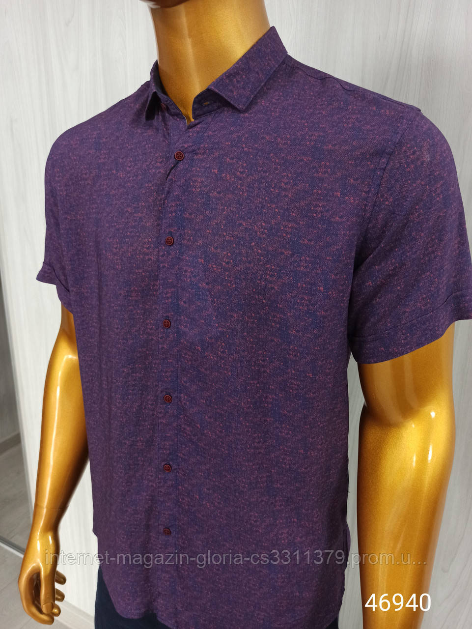 Мужская рубашка FLP. mod.46935. Батал,  Размеры: 3XL,4L,5XL,6XL.