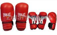 Перчатки боксерские PVC ELAST MA-5018 (красный, синий,черный)