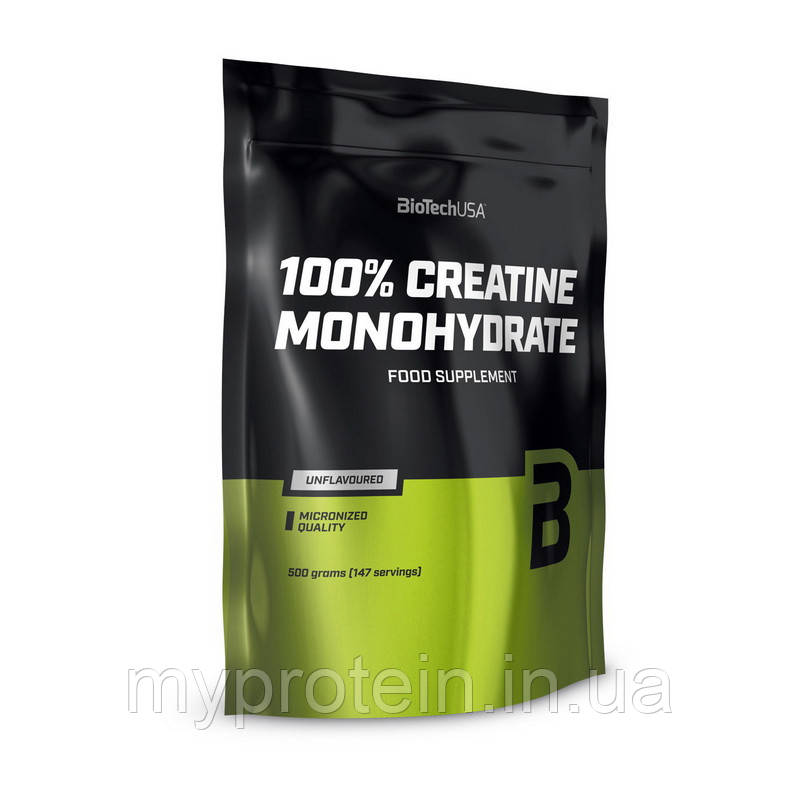 BioTech Креатин био тек моногидрат в пакете 100% Creatine Monohydrate (500 г )