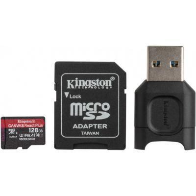 Карта памяти Kingston 128GB microSDXC class 10 Canvas React+ (MLPMR2/128GB)
