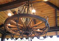 Люстры деревянные потолочные №2
