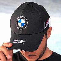 Брендовая модная кепка BMW черная (бейсболка)