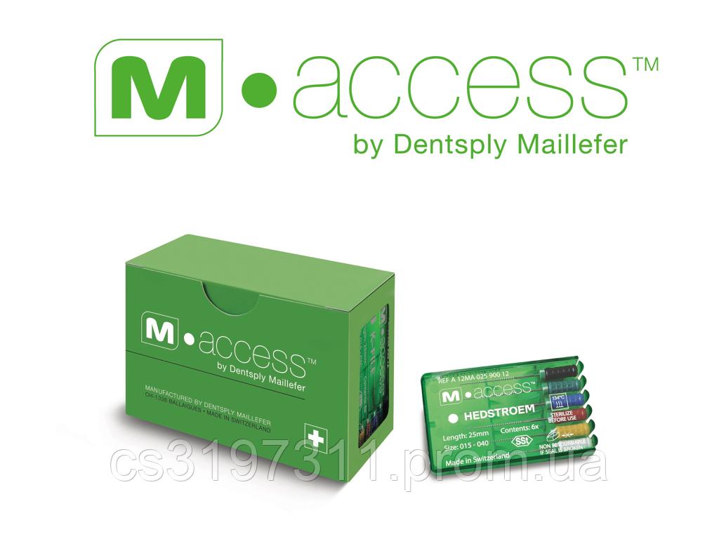 Ендодонтичні інструменти (файли) Dentsply Sirona H-File M-Access № 08, довжина 25 мм, 6 шт.