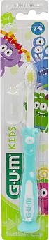 Детская зубная щетка GUM KIDS MONSTER, от 3 до 6 лет